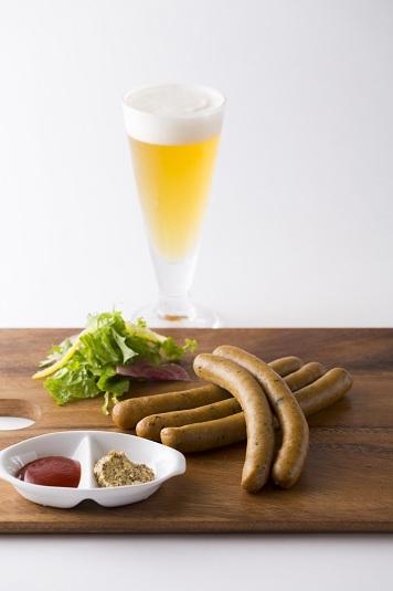 自家製ソーセージ ビール
